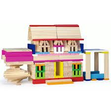 viga wooden building blocks play set childrens kids wood brick