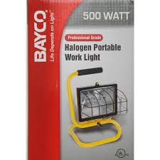 Portable Work Light Bayco 500 Watt Halogen Project Work Light Walmart Com