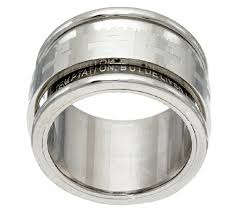 spinner rings stainless steel our prayer spinner ring page 1 qvc
