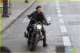tom cruise is all smiles on his u0027mission impossible u0027 motorcycle