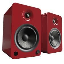 kanto yu6 bluetooth enabled powered bookshelf speakers w phono