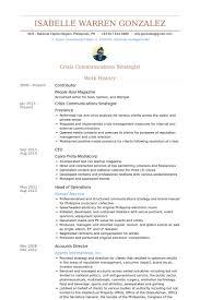 Crisis Management Resume Contributor Resume Samples Visualcv Resume Samples Database