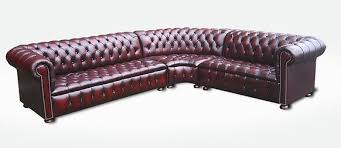Chesterfield Corner Sofas Chesterfield Corner Sofa Unit With Arm Leather Sofas