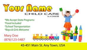 childcare business cards chilld care elderly care care business cards