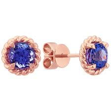 tanzanite earrings tanzanite earrings in 14k gold shane co