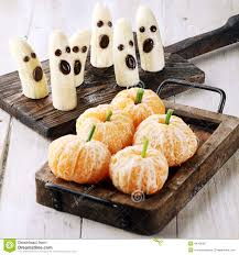 Halloween Treats And Snacks Healthy Halloween Treats Made From Fruit Stock Photo Image 44161807