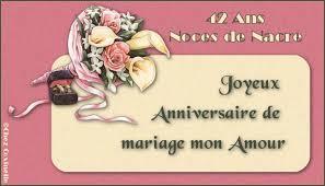 42 ans de mariage menu anniversaires mariage