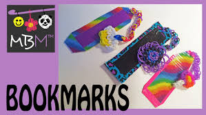 rainbow loom band and duct tape bookmarks diy gift idea youtube