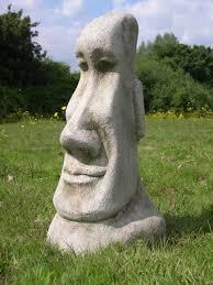 easter island moai statues tiki garden ornament easter island