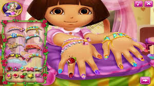 dora nails spa dora the explorer games dora nail design games