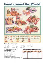 english teaching worksheets food around the world food grammar