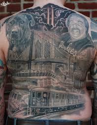 new york back tattoo by marvin silva tattoos