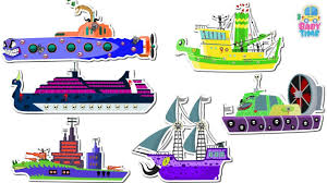 scary boats and ships for children kids water vehicles name