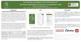 an ios app template for the distribution of standard operating