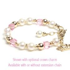 childrens gold bracelets enchanting in pink gold baby bracelets with gorgeous cultured