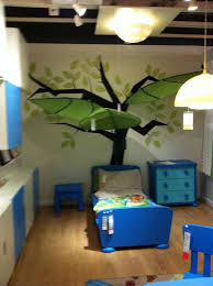 ikea canopy ikea leaf canopy coming out of tree decal painting big boy room