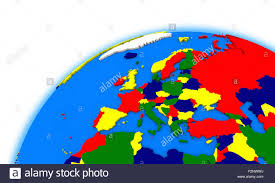 Europe On Map by Europe On Globe Political Map Stock Photo Royalty Free Image