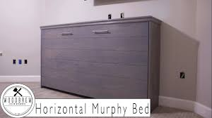 Diy Murphy Desk by Horizontal Murphy Bed With Ship Lap Diy Woodbrew Workshop Youtube