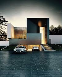 cool sleek home underground parking architecture and interiors