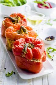 cuisiner le poivron recette poivrons farcis à la grecque