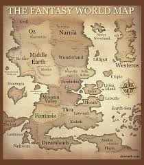 Fantasy World Map by The Fantasy World Map Multi Crossover Fantasy Map Spacebattles
