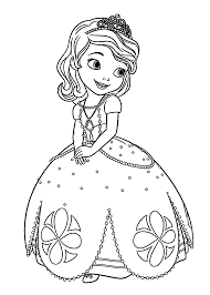 sophia the first coloring page sofia the first coloring pages