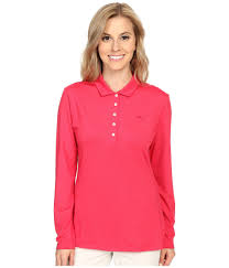 Womens Puma Golf Clothes Puma Long Sleeve Polo In Pink Lyst
