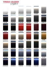 black car paint colors chart