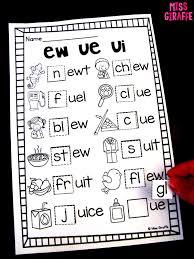 Base Words Worksheets Miss Giraffe U0027s Class Ew Ue Ui Activities