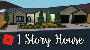 one story house welcome to bloxburg 1 story house speed build youtube