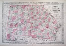 Georgia Counties Map Antique Maps Of Georgia
