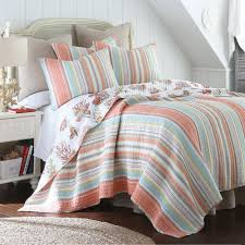 Coastal Quilts Coral Reversible Quilt Set