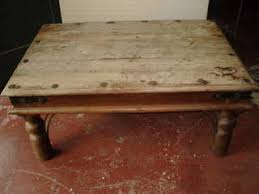 rustic solid wood coffee table rustic solid wood coffee table with metal studs singapore classifieds