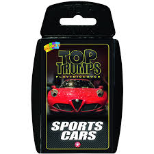 sport cars amazon com sports cars top trumps card game educational card