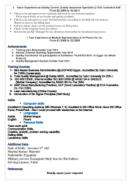 Quality Assurance Specialist Resume Resume In 2014