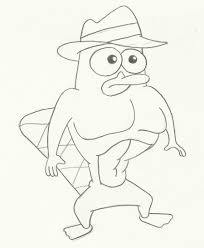platypus coloring pages perry the platypus by brigz7071 on deviantart