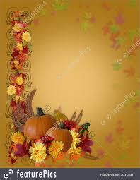 background for thanksgiving templates thanksgiving fall autumn border stock illustration