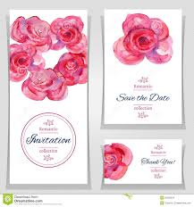 save the date or wedding invitation templates with red roses