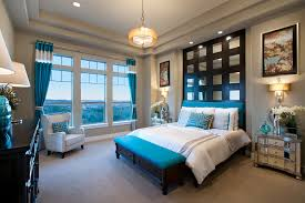 scroll sconces bedroom contemporary with dark built in headboard
