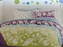 cynthia rowley teal purple lime twin xl dorm comforter 9pc set