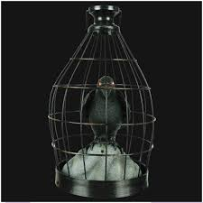 Halloween Ornaments Uk Halloween Crow In Cage Animated Decoration Mad About Horror