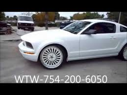 White Mustang With Black Wheels White Mustang On White 22 Inch Rims Marlondaboss Youtube