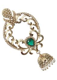 dangler earring gold and green dangler earring kalkifashion