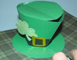 cards and papercrafting leprechaun hat pop up card