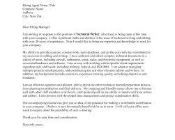 cover letter technical writer information technology cover letter
