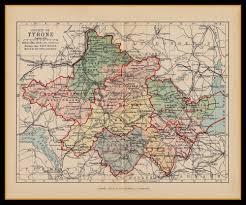 Map Ireland Ireland Tyrone Map Circa 1884