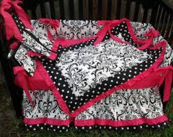 Interesting Hot Pink And Black Crib Bedding Sets Stunning Home