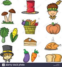 doodle of thanksgiving vegetable set stock vector illustration