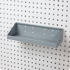 peg board lochook pegboard hook steel shelf 18 inch l x 6 1 2 inch w