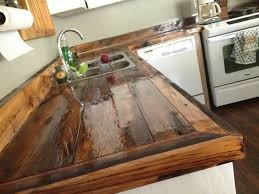The Best Countertops For Kitchens Countertop Faux Reclaimed Wood Reclaimed Wood Countertops